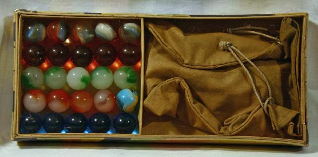Master Glass Box Set of Marbles.