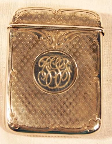 Sterling Silver Match Safe. Made by Blackinton