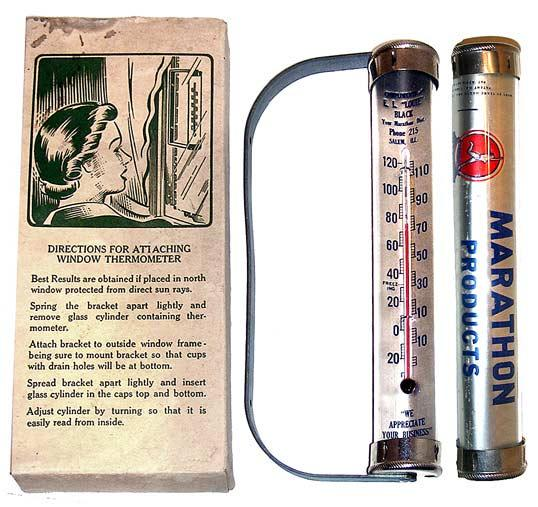 Vintage Marathin Automotive Products Thermometer (Mint in Bo