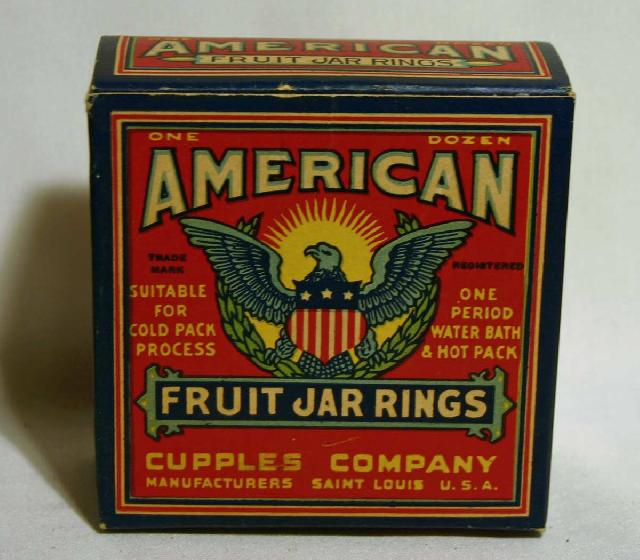 Vintage American Fruit Jar Rings Box (Full). Saint Louis