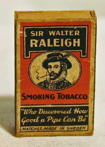 Vintage Sir Walter Raleigh Very Small Match Box (Empty).
