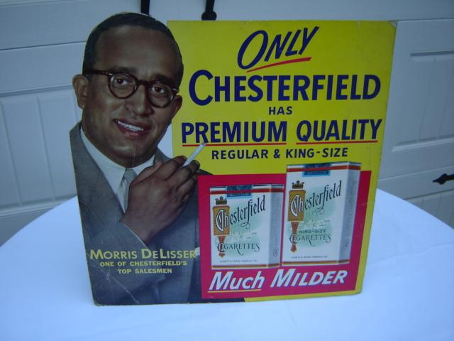 CHESTERFIELD CARDBOARD EASEL SIGN
